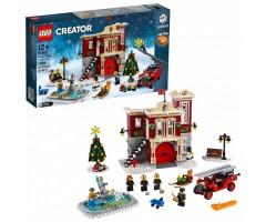 10263 Пожарная часть в зимней деревне