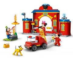 Пожарная часть и машина Микки и его друзей
