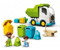 10945 Мусоровоз и контейнеры для раздельного сбора мусор