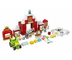 Фермерский трактор, домик и животные