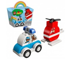 10957 Пожарный вертолет и полицейский автомобиль