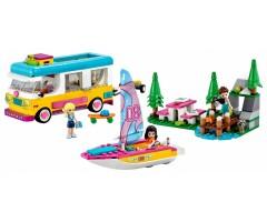 41681 Лесной дом на колесах и парусная лодка