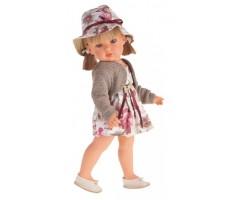 AJ2808P Белла в шляпке,блондинка, 45 см