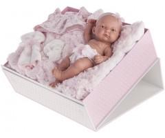 AJ4068P Карла в чемодане, розовая ,26см