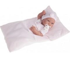 AJ5056P Кукла-младенец Пипа в розовом, 42см