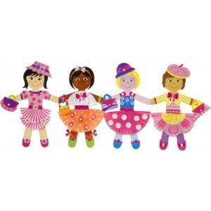 «Набор для творчества Pops Craft Гирлянда из 4 бумажных куколок» AL1193