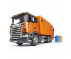 Мусоровоз Scania оранжевый