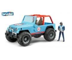 Внедорожник  синий с гонщиком