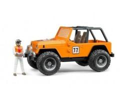 BR542 Внедорожник  оранжевый с гонщиком