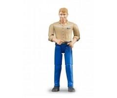 BR60006 Фигурка мужчины голубые джинсы