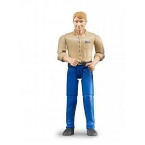 «Фигурка мужчины голубые джинсы» BR60006
