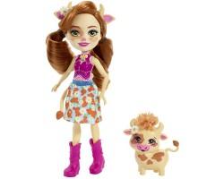 EFXM77 Кукла с питомцем Коровка