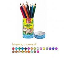 EK32476 Карандаши 24  цвета трехгранные Джамбо