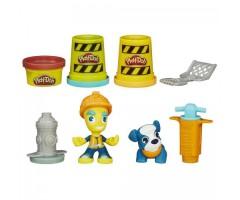 Набор пластилина Город дорожный рабочий