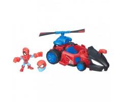 HB6684B Набор Микро фигурка Человек паук и машинка