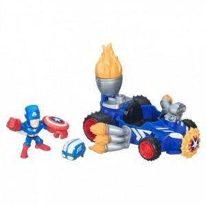 «Набор Микро фигурка Капитан Америка и машинка» HB6686B