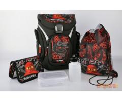 L201171809 Рюкзак с сумкой для обуви,  пеналом  Ninjago