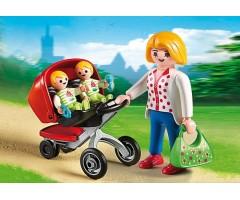 PM5573 Мама с близнецами в коляске