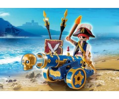 PM6164 Синяя интерактивная пушка с офицером пиратов
