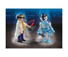 PM6844 Ученый с роботом