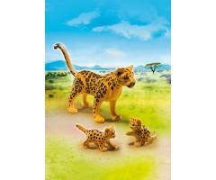 PM6940 Леопард с детенышами