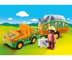 PM70182 Автомобиль зоопарка с носорогом