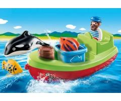 PM70183 Рыбак в лодке