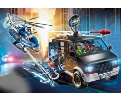 PM70575 Погоня на вертолете за беглецами в фургоне