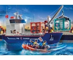 PM70769 Большой контейнеровоз с таможенным катером