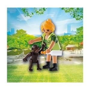 «Смотритель зоопаркас детенышем гориллы» PM9074