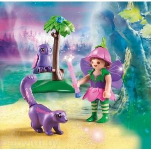 «Девочка-фея с животными друзьями» PM9140