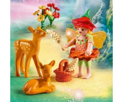 PM9141 Девочка-фея с оленятами