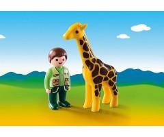 PM9380 Смотритель зоопарка с жирафом