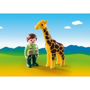«Смотритель зоопарка с жирафом» PM9380