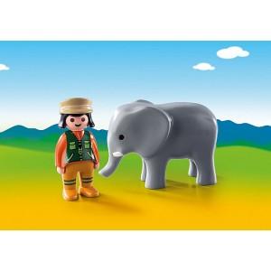 «Смотритель зоопарка со слоном» PM9381