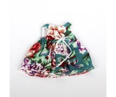 PR0141 Платье зеленое с цветами