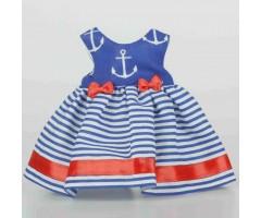 PR0209 Платье синее с якорями