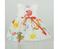 PR0210 Платье с принтом тетрадка