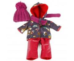 PR0212 Комбинезон бордовый с шапкой и шарфом