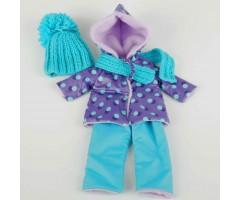 PR0213 Комбинезон фиолетовый с шапкой и шарфом