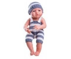 PR5013 Кукла Бэби в сером, мальчик 36 см