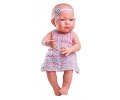 PR5014 Кукла Бэби в розовом платье, 36 см