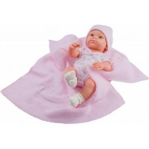 «Бэби с розовым пледом, 32 см» PR5107