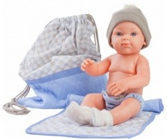 PR5109 Бэби с рюкзаком и одеяльцем, 32 см