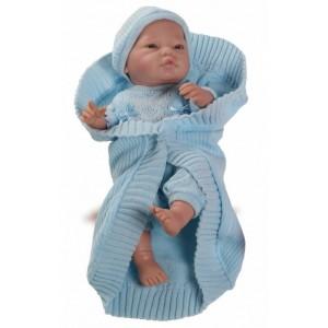 «Бэби с голубым одеялом, 45см» PR5172