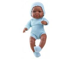 PR5180 Кукла Бэби в голубом, 45см, мулат