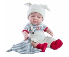 PR5184 Кукла Бэби с полосатым полотенчиком. 45 см