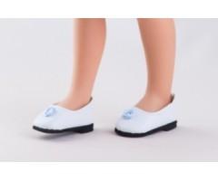 PR63203 Туфли белые с голубым цветком