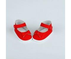 PR64022 Туфли красные с бантиком