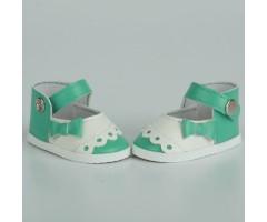 PR64039 Туфли салатовые с белым